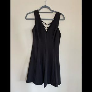 Black Dress with lace up detail